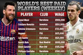The world's best soccer player is making $646,000 per week. Salary Of Lionel Messi Per Week
