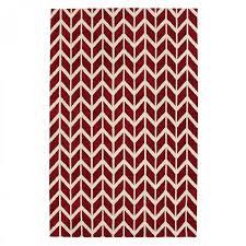 arlo ar08 chevron red geometric rug by asiatic
