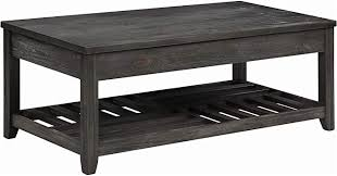 4.4 out of 5 stars. Amazon Com Coaster Home Furnishings Lift Top Storage Cavities Grey Coffee Table 18 H X 23 75 W X 47 75 D Furniture Decor