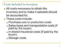 Chaptger 9 Inventories Learning Objectives Ppt Download