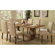 coaster parkins 7 piece dining table and chair set in coffee