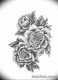 черно белый эскиз тату рисункок пионы 11032019 002 Tattoo
