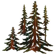 >pine tree stand wall art