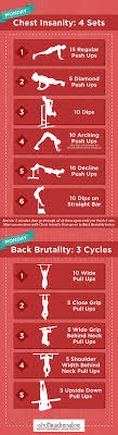 calisthenics workout plans monday chest insanity infographic