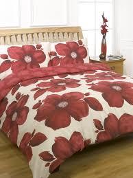 duvet quilt cover bedding set red white single double king