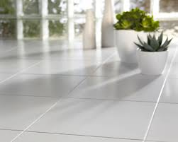 White Tile Floor Kitchen White Tile Floor