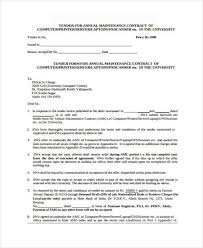 Air Conditioner Amc Agreement Format Sample Maintenance Contract Forms 8 Free Documents In Word Pdf