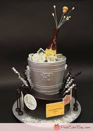 Champagne Silver Bucket Cake