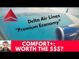 Delta Comfort Is Premium Economy Worth The Money Youtube
