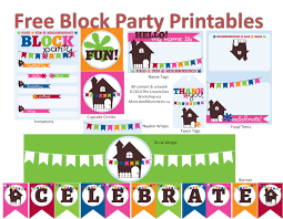 Block Party Flyers Templates Neighborhood Block Party Printables Free Block Party