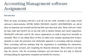 accounting management software assignment assignment help