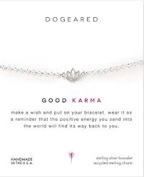 Dogeared Sterling Silver Good Karma Bracelet 1524cm With 25cm