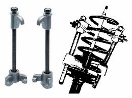 coil spring compressor tool. ken-tool 39730 macpherson strut coil spring compressor set, hook and bolt tool