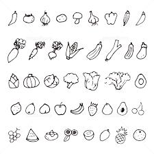 手描きの野菜と果物スケッチイラスト イラスト素材 5071628 フォト