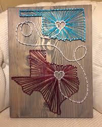 State String Art, Oklahoma and Texas- Order from KiwiStrings on ...