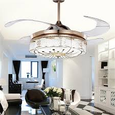 2018 invisible ceiling fans lights bedroom remote control lamp modern retractable belt led mute electric fan chandelier folding pendant lamp from ok360