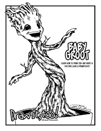 Small Picture Baby Groot Guardians of the Galaxy Draw it Too