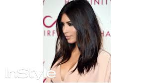 Kim Kardashian S Textured Waves Hair Tutorial Instyle Youtube