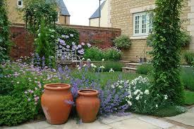 decorative pots small cotswold garden