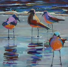12 x 12 oil on hardboard canvas panel sold gee these sea birds were feeling paintings