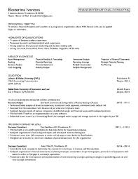 Finance Resume Objective Accounting Resume Objective Statements