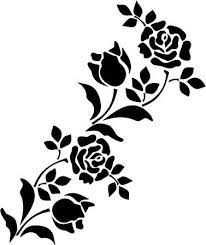 Budget Stencils Flower Silhouette Patterns At Getdrawings Com Free For