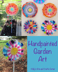 garden art projects. So The Girls And I Set Out To Make Some Pretty Garden Art For Grandmas Great-grandmas. Projects