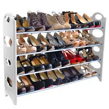 shoe racks at closet organizer shoe rack