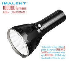 IMALENT MS18 LED el feneri CREE XHP70 100000 lümen su geçirmez flaş işığı  ile 21700 pil akıllı şarj arama|LED Flashlights