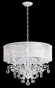 schonbek fe7088n 48h1 filigrae 8 light crystal chandelier in antique silver with hardback white shade and