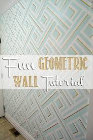 Wall Patterns With Tape Geometric Wall Taping It Modern Her Tool Belt