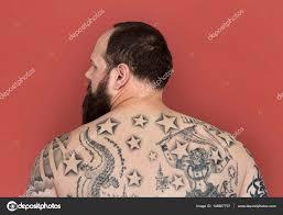 Muž S Tetováním Na Zádech Stock Fotografie Rawpixel 148667797