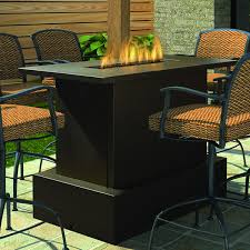 propane fire pit table with chairs. firegear key west bar fire table | woodlanddirect.com: outdoor fireplaces: pits - gas propane pit with chairs