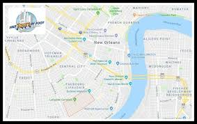 garden district new orleans walking tour map. Delighful District How To Get The Garden District On New Orleans Walking Tour Map E