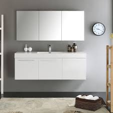 60 Bathroom Cabinet Convenience Boutique Fresca Vista 60 White Wall Hung Single Sink