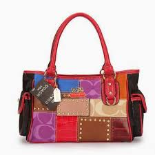 Coach Smooth Logo Medium Red Satchels OA17