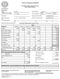 Expenses Report Sample 29 Printable Travel Expense Report Template Forms Fillable