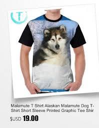 Malamute T Shirt Alaskan Malamute Dog T Shirt Short Sleeve
