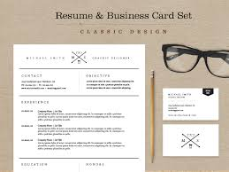 Classic Resume Business Card Set By Skybox Creative Dribbble