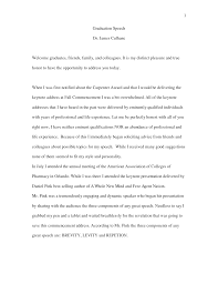 Graduation Speech Example Template Graduation Speech Example Template How To Write A Graduation Speech 16