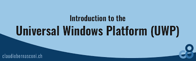 Windows Flatform Introduction To The Universal Windows Platform Claudio
