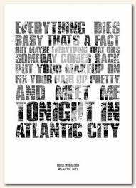 bruce springs atlantic city adams favourite bruce song would look great in the