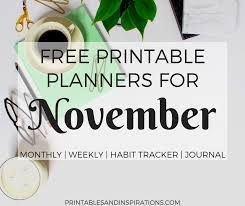 november calendar header free printable planners for november 2017 printables and inspirations