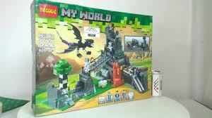 Mở hộp Decool 822 Lego Minecraft MOC Ender Dragon Save Alex giá sốc rẻ nhất  - YouTube