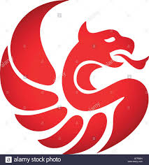 template of a dragon silhouette style logo icon template phoenix design bird icon