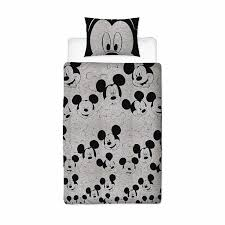 mickey mouse silhouette single duvet cover set polycotton front