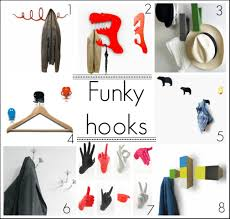 funky contemporary fresh design coat hook hanger hooks home decor