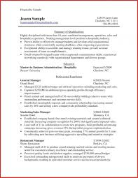 Hospitality Resume Example Glazier Resume Examples Best Of Sample