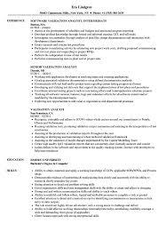 Validation Analyst Resume Samples Velvet Jobs