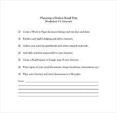 Road Trip Template Free 6 Road Trip Itinerary Templates In Pdf Psd Eps